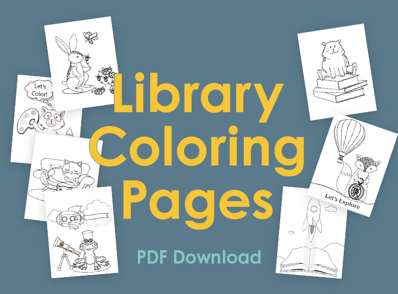Library Coloring Pages PDF