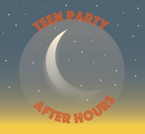 Teen After Hours Party Moon and Stars Logo